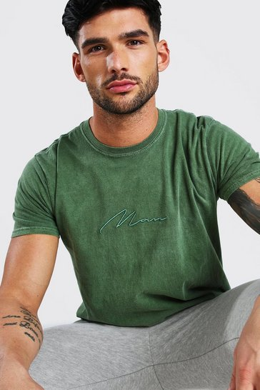 Khaki MAN Signature Overdyed T-Shirt