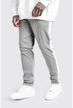 Original MAN Tricot Jogger With Side Tape, Charcoal grigio