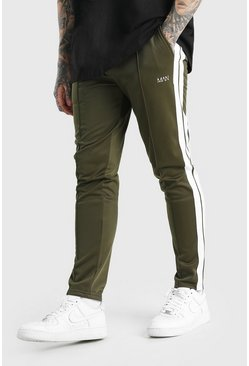 Original MAN Tricot Jogger With Side Tape, Khaki kaki