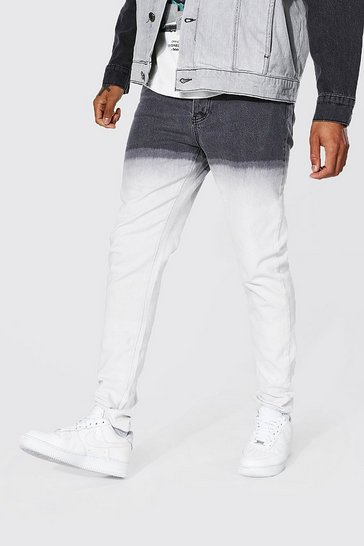 Black Relaxed Fit Ombre Jean