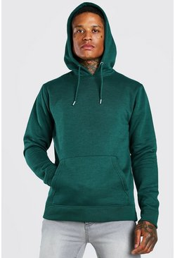 Forest green Official MAN Back Print Hoodie