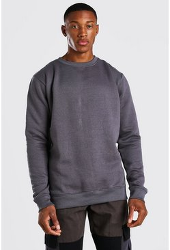Charcoal grey Official MAN Back Print Sweater