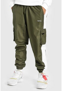 Khaki Original Man Print Shell Side Panel Cargo Trouser