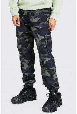 Khaki Original MAN Camo Shell Multi Pocket Cargo Trouser