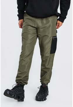 Khaki Original MAN Shell Cargo Trouser With Mesh Pockets