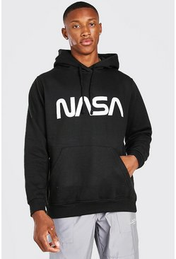 Black NASA Reflective Print License Hoodie