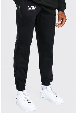 Black NASA Print License Jogger