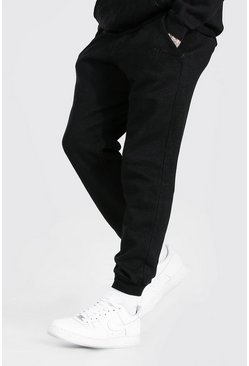 Washed black MAN Signature Regular Fit Overdyed Jogger