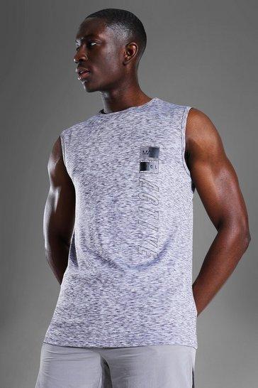Grey Man Active Graphic Marl Tank