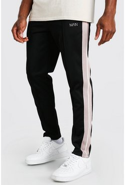 Black Original MAN Tricot Jogger With Tape