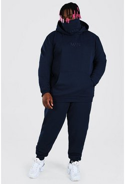 Navy Plus Size MAN Official Snood Tracksuit