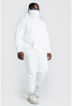 Ecru white Plus Size MAN Official Snood Tracksuit