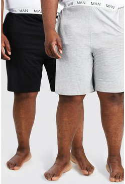 Plus Size MAN Dash 2Pk Lounge Short, Multi multicolor
