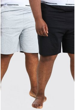 Multi Plus Size MAN Official 2Pk Lounge Short