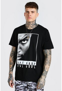 Black Oversized Ice Cube License T-Shirt