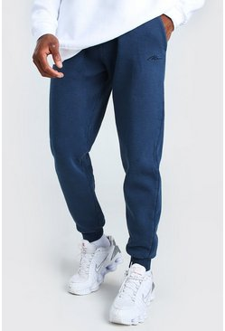 Navy Loose Fit Heavyweight MAN Overdyed Jogger