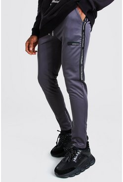 Slate MAN Official Skinny Fit Tape Tricot Jogger