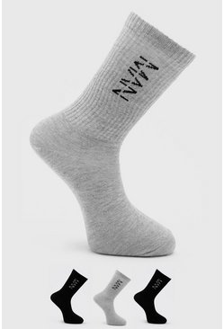 3 Pack Man Dash Tube Socks, Multi