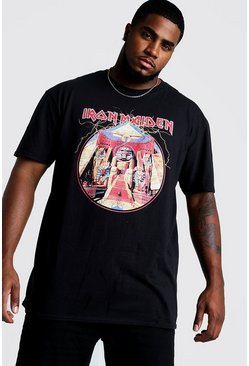 Camiseta con licencia Iron Maiden Big & Tall, Negro
