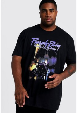 Black Plus Size Prince Purple Rain License T-Shirt