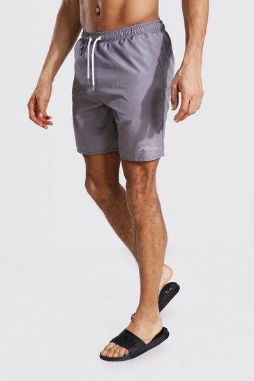 Grey Tall Man Signature Mid Length Swim Short