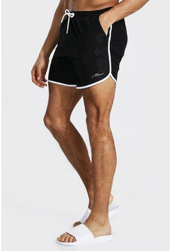 Black Tall Man Signature Runner Swim Short
