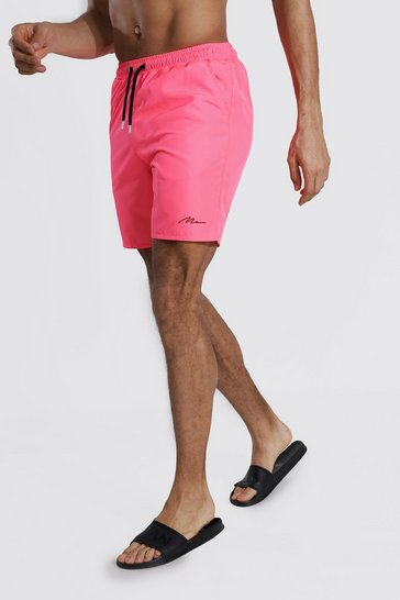 Pink Tall Man Signature Mid Length Swim Short