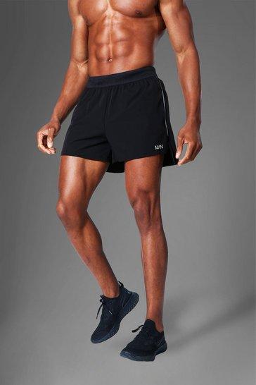 Black Man Active Side Split  Running Shorts