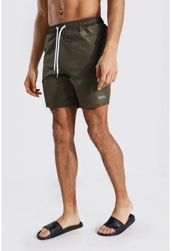 Khaki  Tall Original Man Mid Length Swim Short