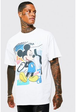 White Oversized Retro Mickey T-shirt
