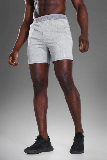 Grey Man Active Contrast Stitch Shorts