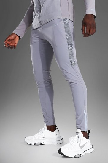 Grey Man Active Lightweight Jogger With Stripe