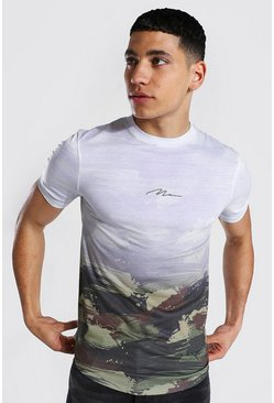 Muscle Fit Man Signature Camo Ombre T-shirt