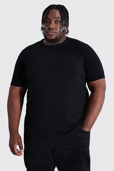 Black Plus Basic Knitted T-shirt