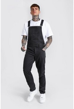 Charcoal grey Slim Rigid Long Dungaree