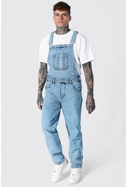 Ice blue Relaxed Fit Long Dungaree