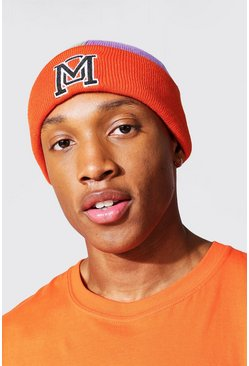 Man Dash Branded Colourblock Beanie, Multi