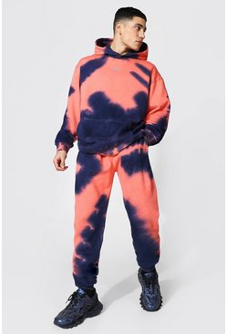 Purple Oversized Original Man Tie Dye Hood Tracksuit