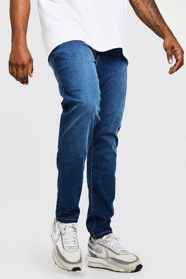 Indigo blue Plus Slim Rigid Jean