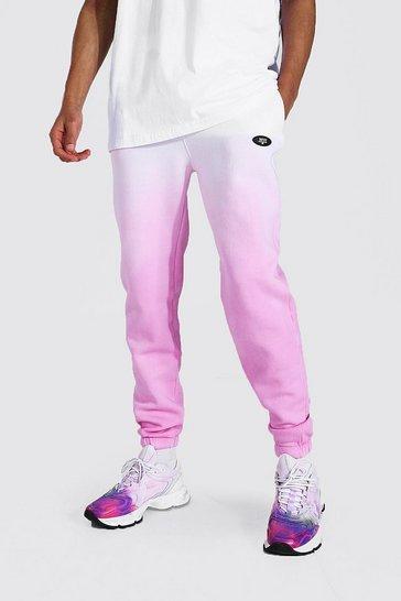 Pink Tall Regular Man Ombre Dye Jogger