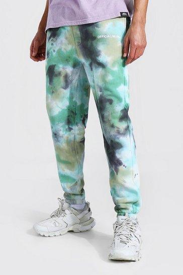 Khaki Tall Regular Man Tie Dye Joggers