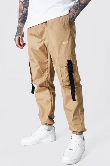 Stone beige Original Man Shell Buckle Joggers