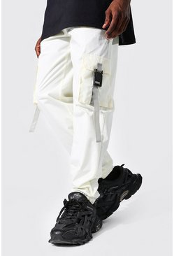 Ecru white Original Man Shell Buckle Joggers