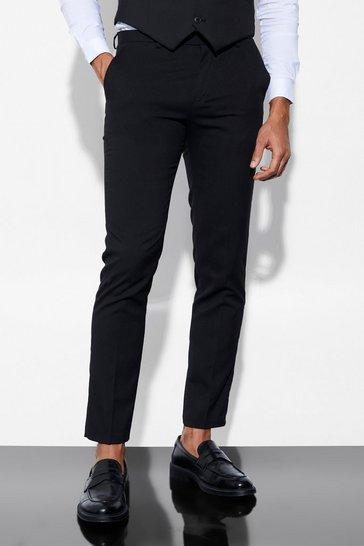 Slim Black Suit Trousers