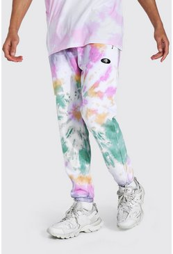 Multi Tall Regular Man Tie Dye Zip Joggers