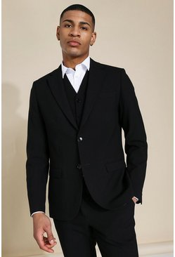Slim Black Single Breasted Jacket