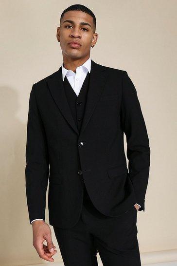 Slim Black Single Breasted Jacket