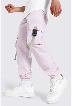 Pink Original Man Shell Buckle Joggers