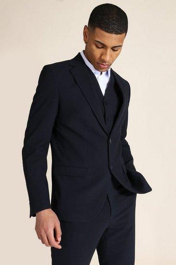Slim Navy Single Breasted Jacket