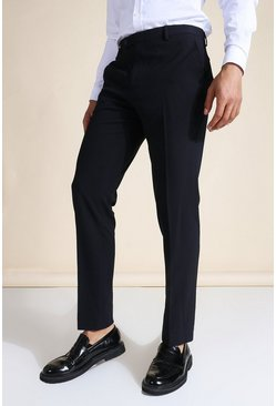 Slim Navy Suit Trousers